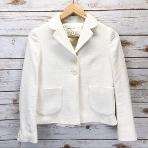 Banana Republic White Tweed Blazer Sz XS